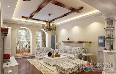 客厅木地板装修效果图