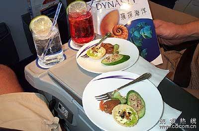 台湾华航全套飞机餐